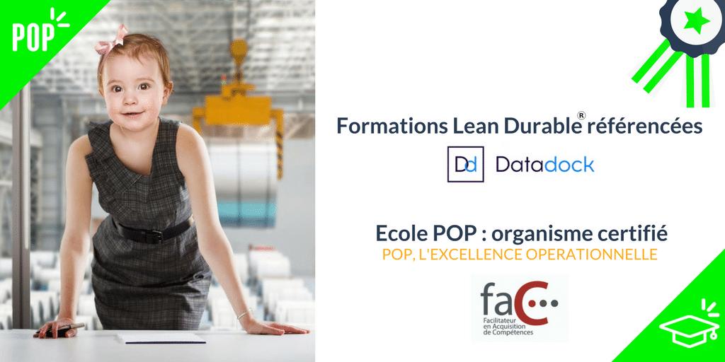 Datadock certification CQPM, FAC Facilitateur de Compétences ICERT Formation Lean Management