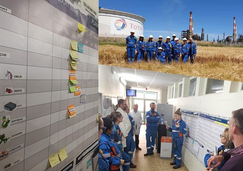 total grandpuits raffinerie lean management management visuel